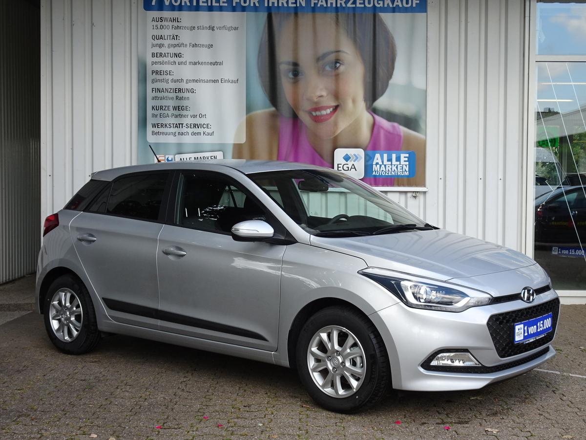 Hyundai i20 1,2 5T UEFA LED KLIMA ALU PDC SPURASS TEMPOMAT BT SUNSET