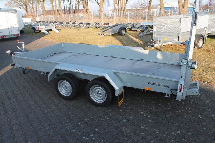 Humbaur HS 353718 3.5t, Tandemachser mit Stahlauffahrbohlen