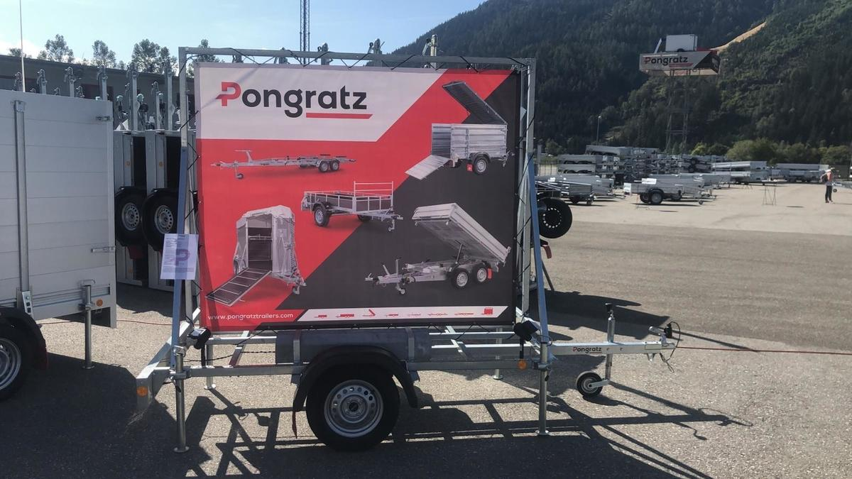 Pongratz PWA Werbebanner Anhänger 5 x am Lager