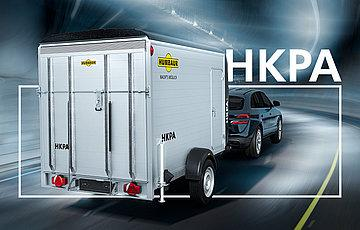 Humbaur HKPA153217 Poly-Alu-Kofferanhänger Einachser 1500 KG