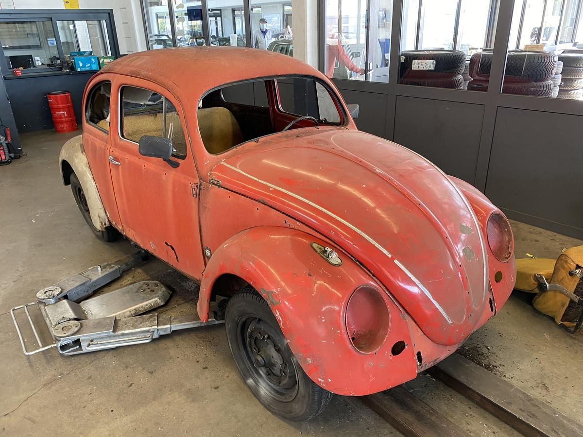 Volkswagen Käfer Ovali Restaurierungsobjekt mit gemachter Bodengruppe