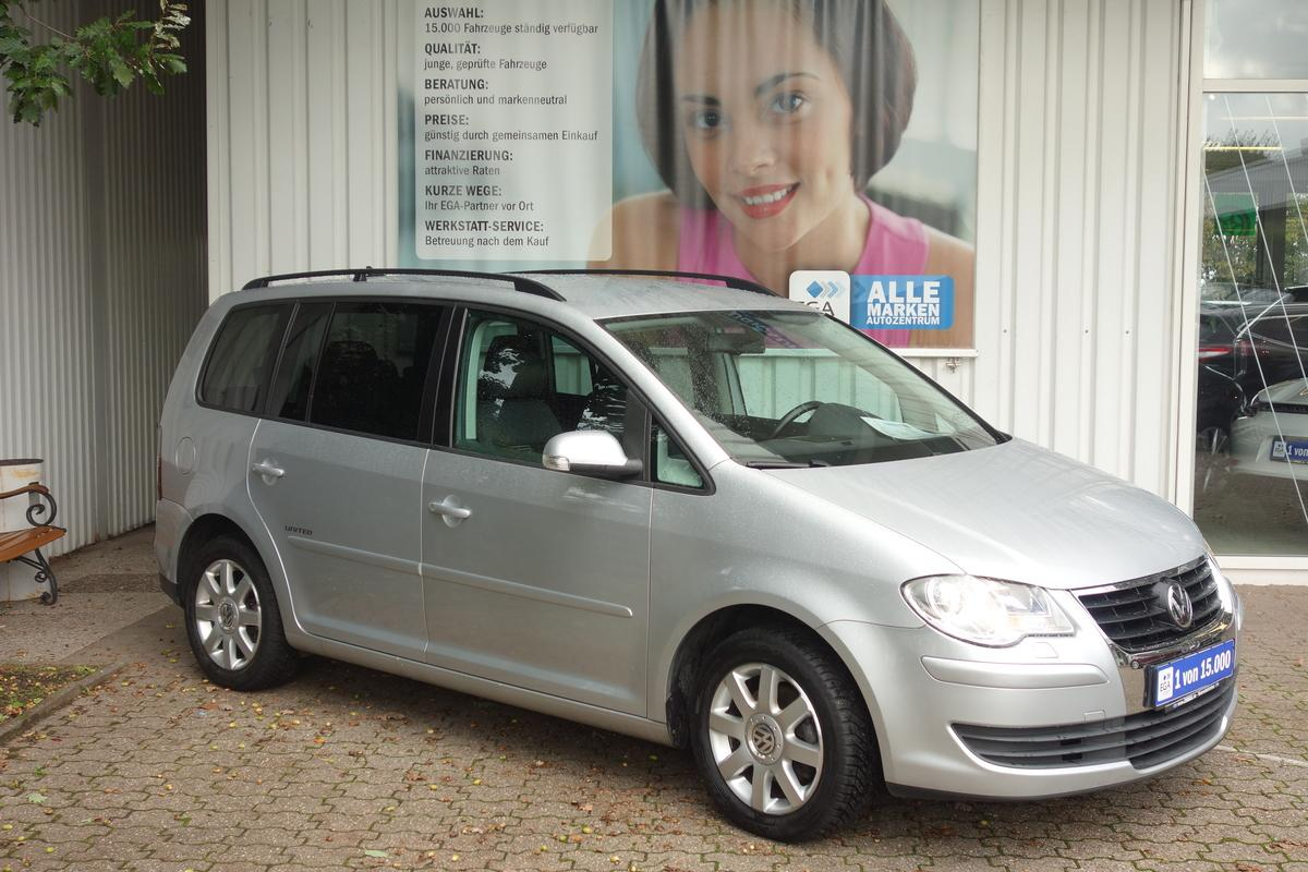 Volkswagen Touran 1,6 UNITED NAVI ALU AHKTEMPO 7 SITZER SHZ PDC