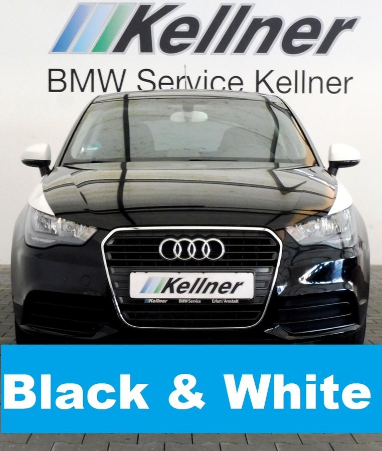 Audi A1 1.2 TFSI Attraction black & white