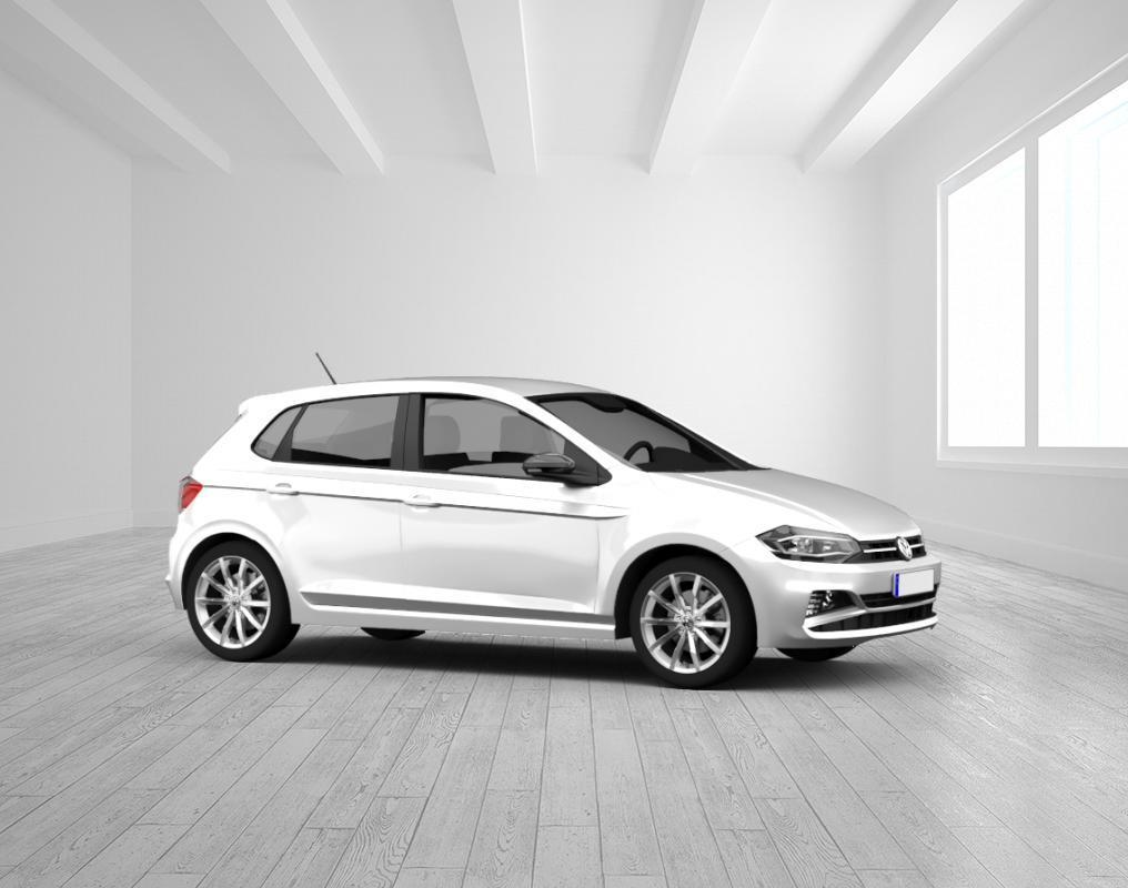 VW Polo Comfortline 1.0 TSI, Limestore Grey, Verglasung ab