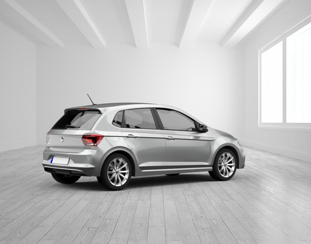 VW Polo Comfortline 1.0 TSI , Winter Paket, Limestore Grey, Verglasung hinten abged
