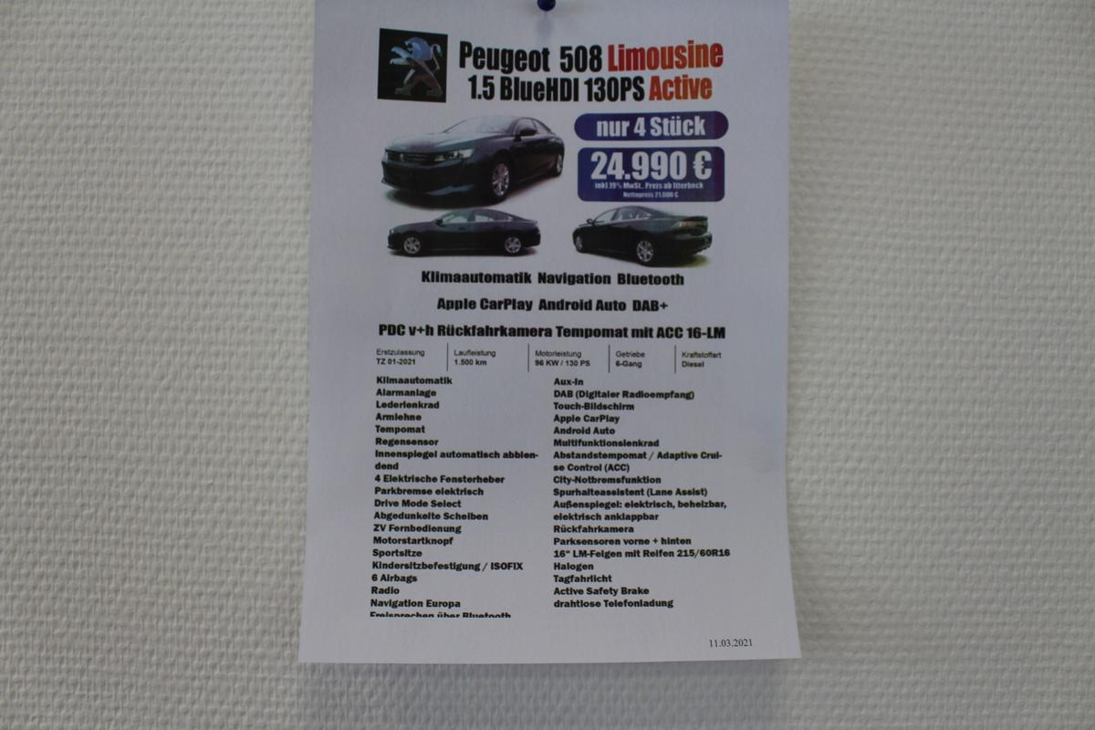 Peugeot 508 PureTech 130 Pure Tec Active