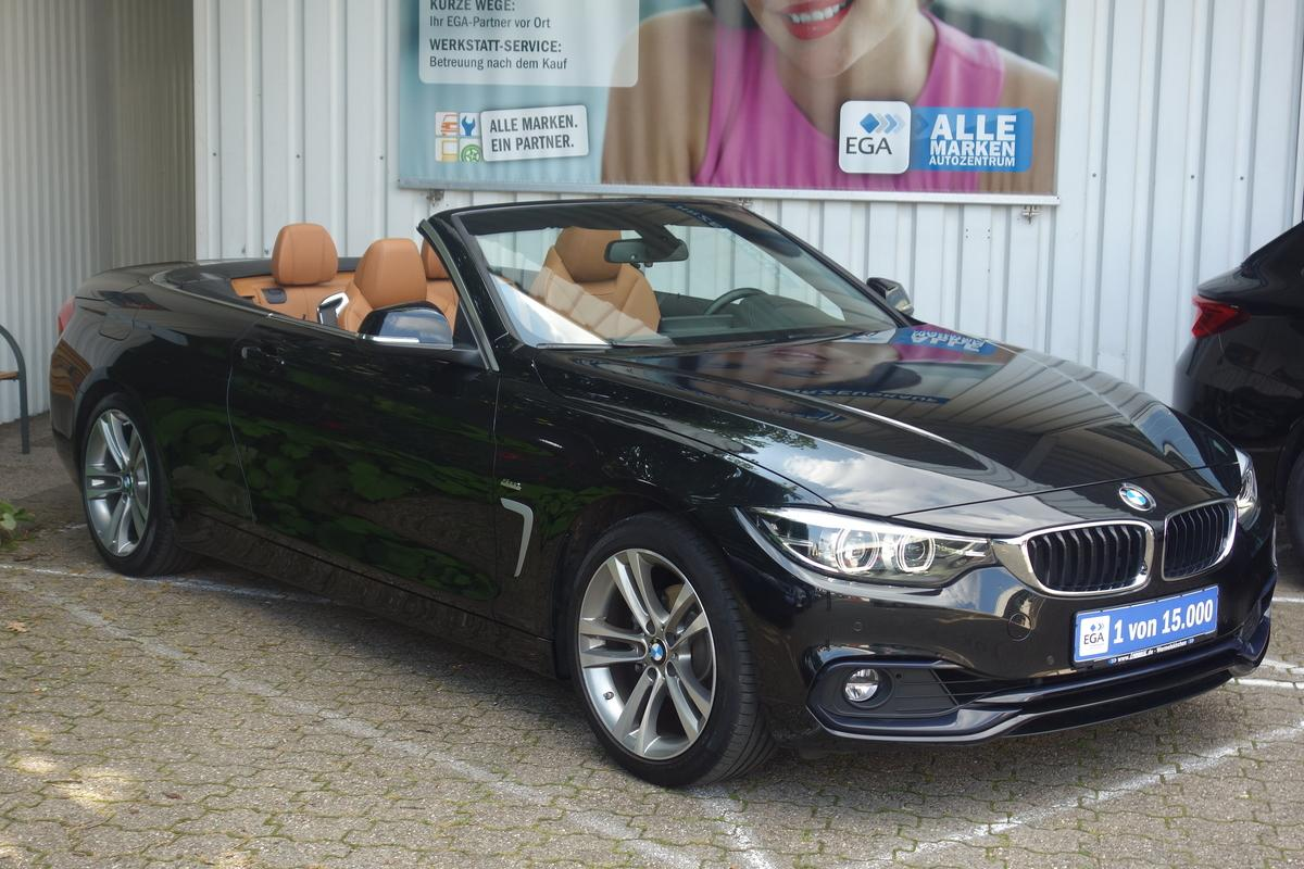 BMW 420i CABRIO SPORT-LINE XENON LEDER NAVI PDC ALU SHZ TEMPO