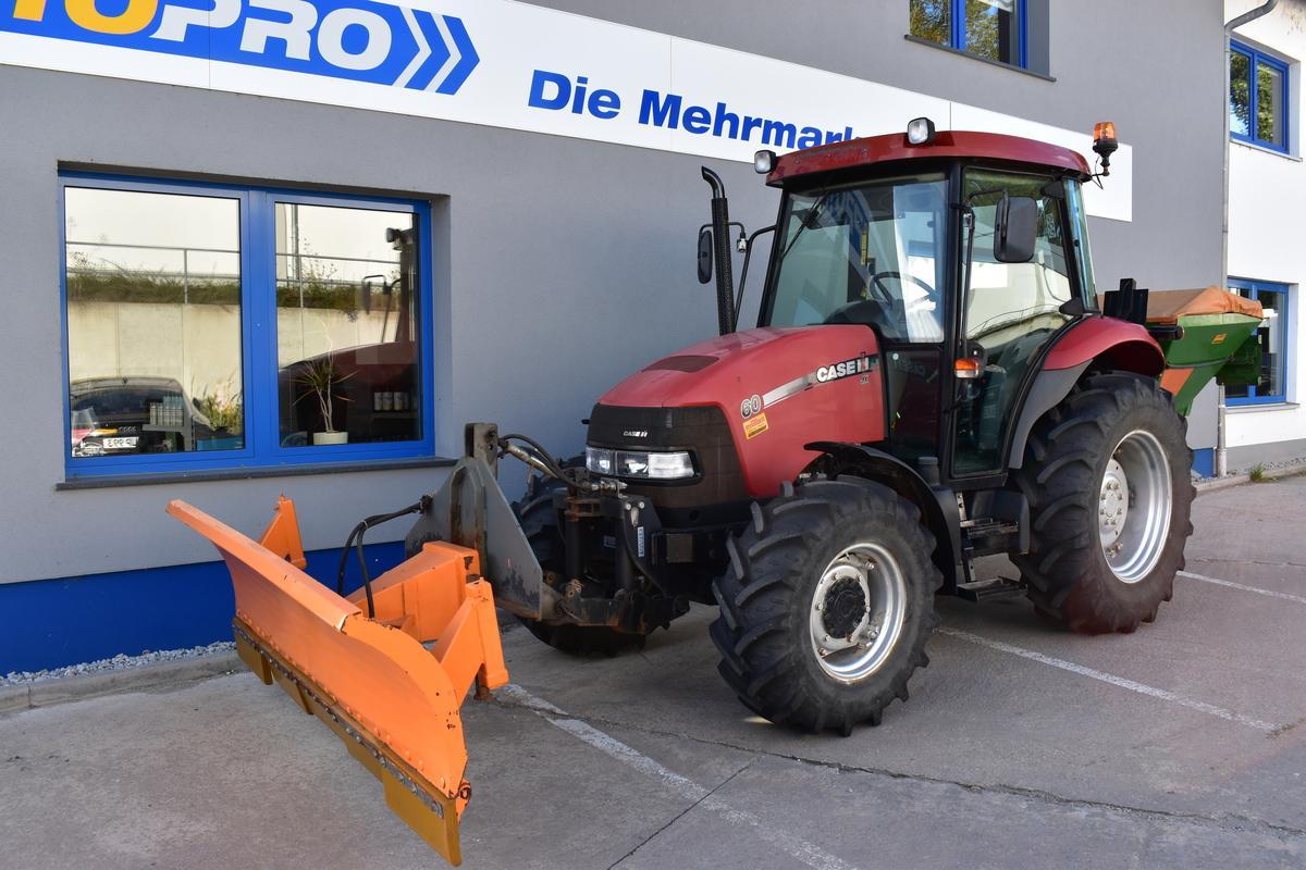Case IH JX60  ALLRAD Schiebeschild Heckstreuer