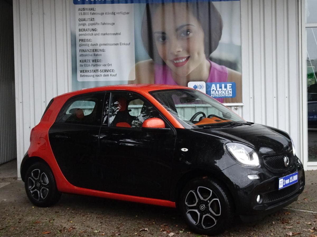 Smart ForFour 66KW/NAVI/SHZ/LED/MEDIA JBL/KAMERA/PTS/TRID ORANGE