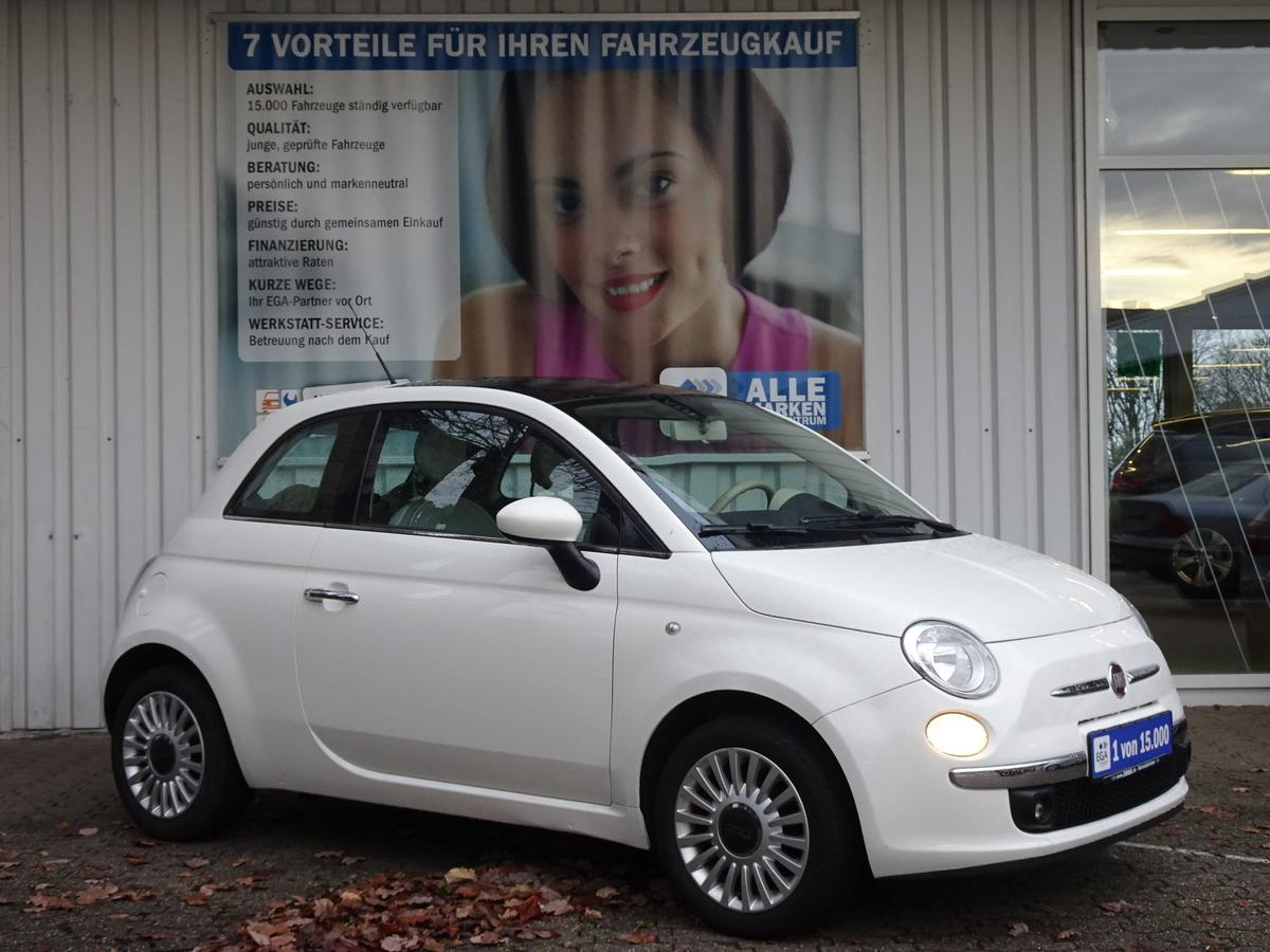 Fiat 500  1.2 8V LOUNGE/PANORAMADACH/ALU/KLIMA/BLUETOOTH/MP3